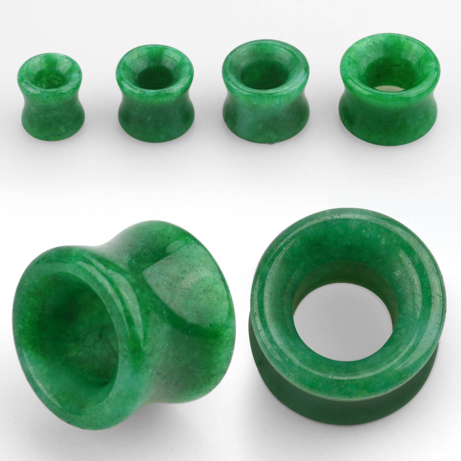 Jade (Resin) double flared stone flesh tunnel