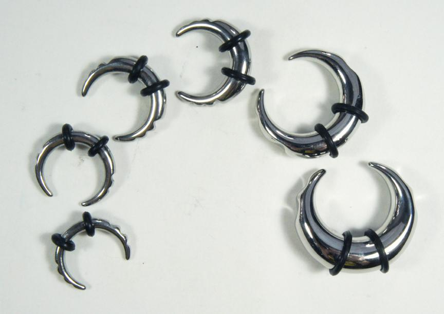 Paired Set Stainless Steel Half Moon Taper