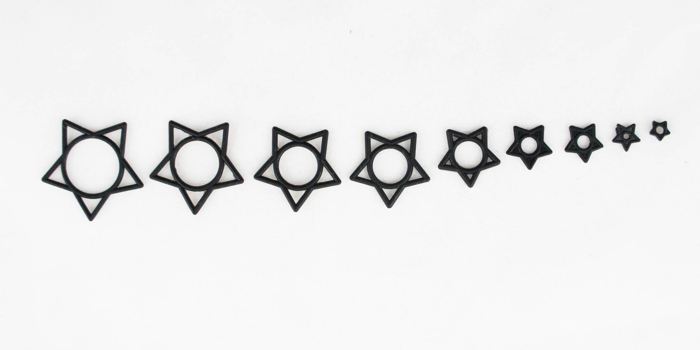 10 Set Hollow Star O-Ring