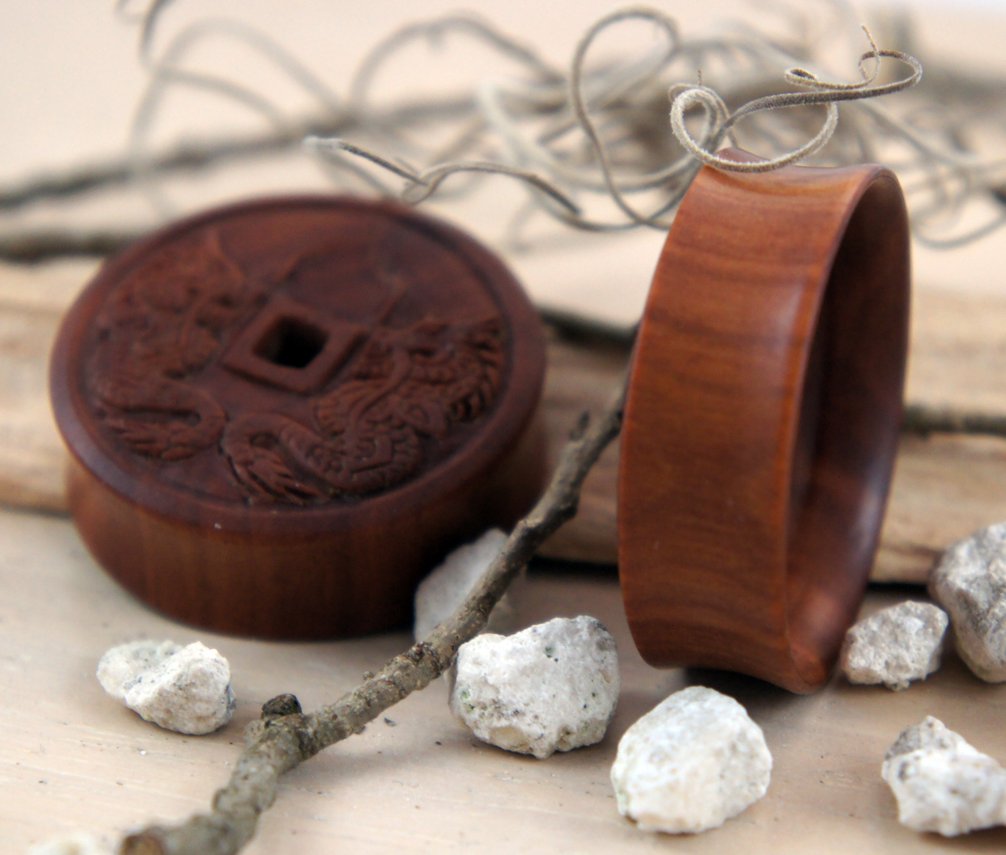 Sono Wood Chinese Dragon Coin Tunnels