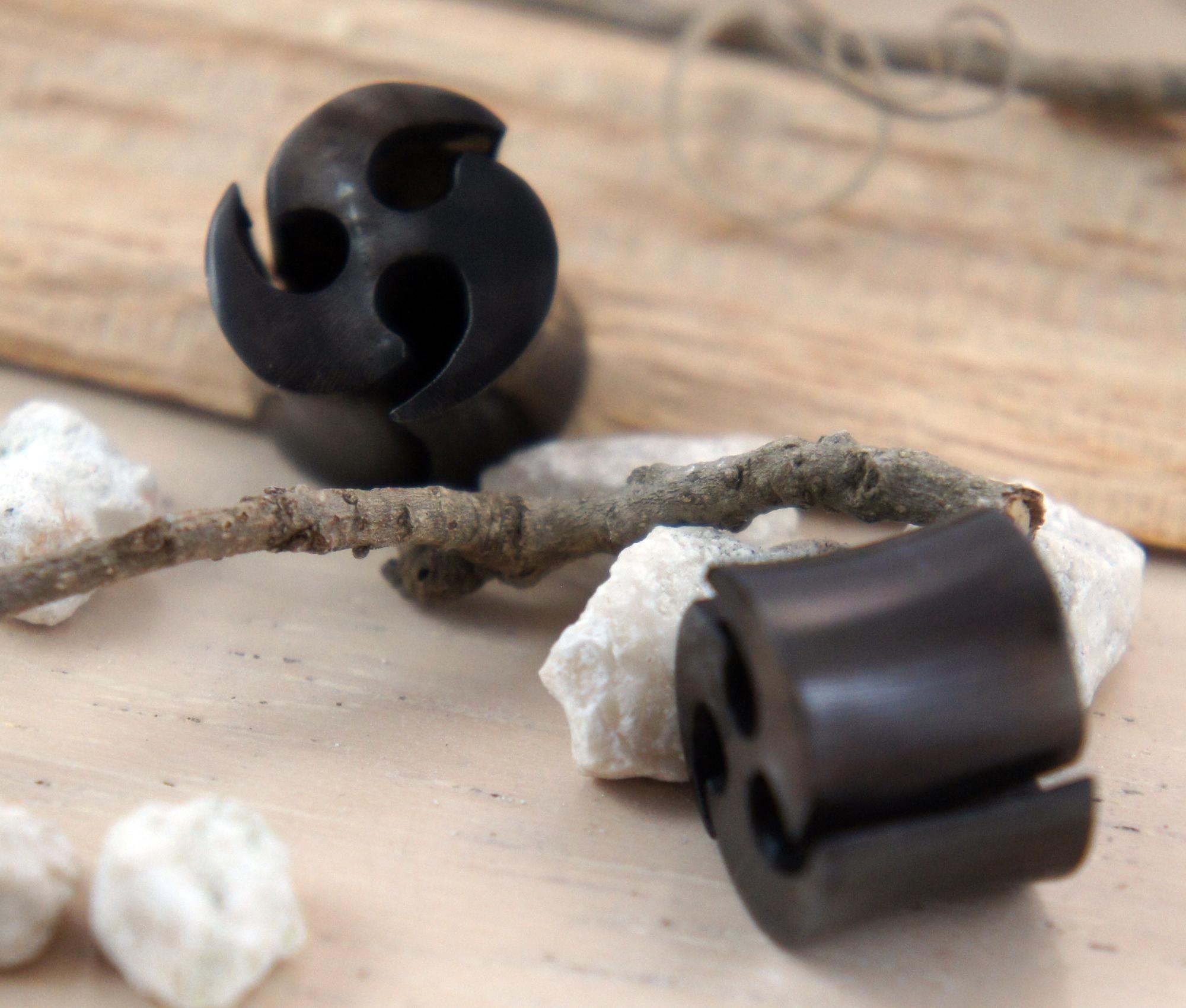 Black Horn Open Trinity Plugs
