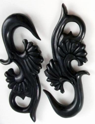 Black Horn Double Floral Hanger