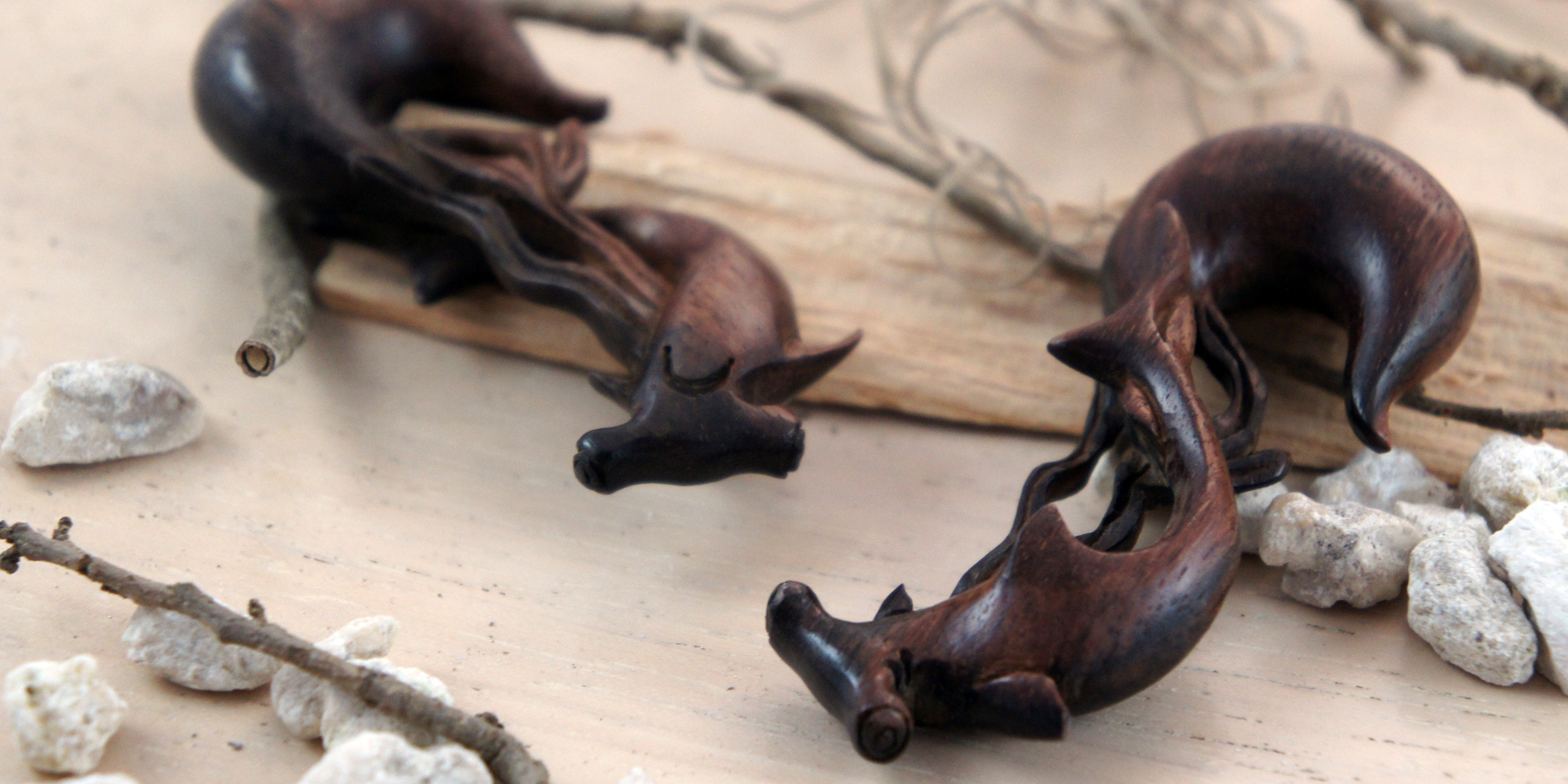 Ebony Wood Hammerhead Shark Hanger