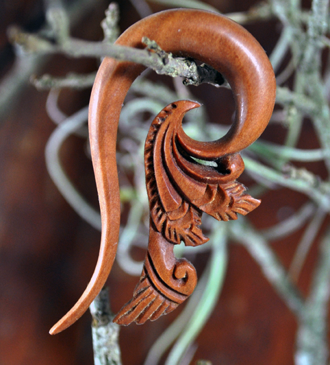 Sawo Wood Tribal Floral Hook Hanger