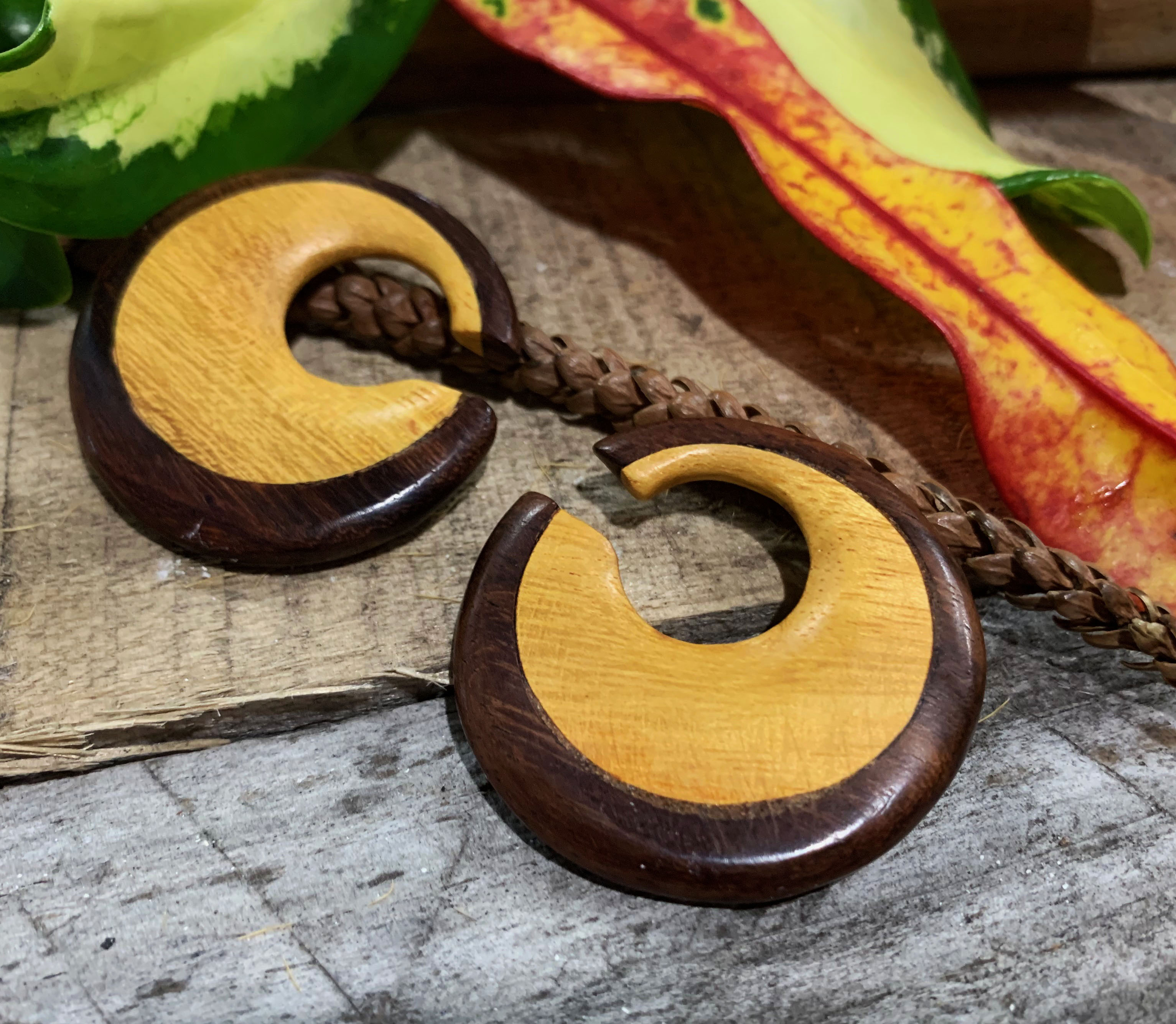 Rose Wood & Jackfruit Wood Concave Hoop