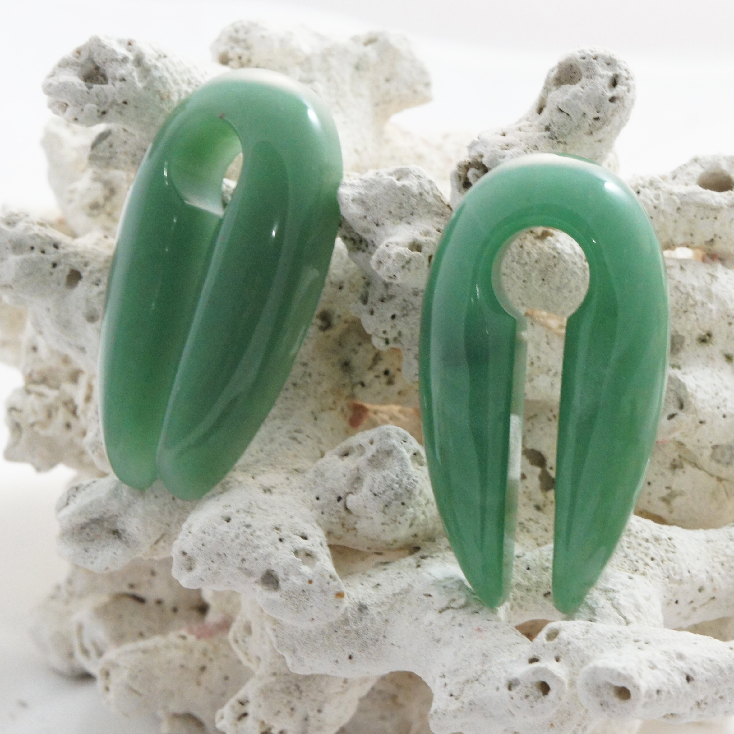 Green Aventurine Ear Weights