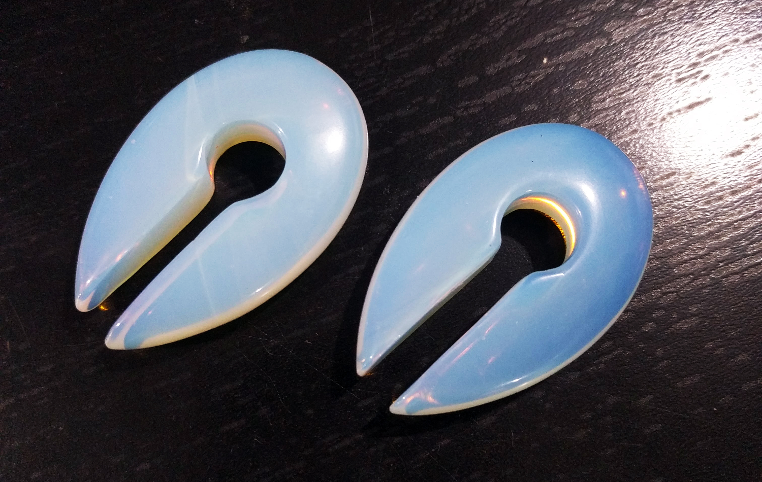 Small Opalite Double Sided Round Pointed Weights 30x48x10