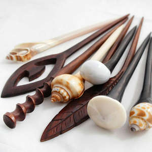 Wood Hair Sticks
