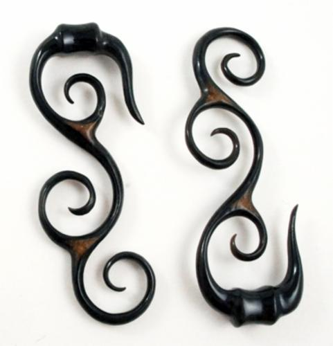 Black Horn Fire Tribal Spiral S Hangers