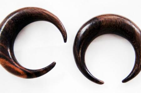 Brown Sono Wood Crescent Moon Claw Taper Pincher