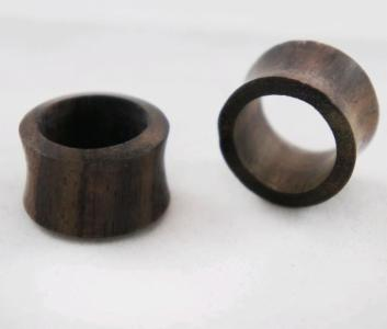 Double Flare Sono Wood Flesh Tunnel