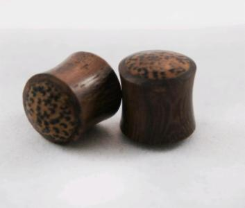 Double Flare Sono Wood Solid Plug with Coconut Wood Inlay