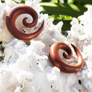 Sawo Wood Spiral Coil Taper