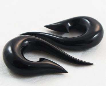 Fish Hook Black Horn Hangers