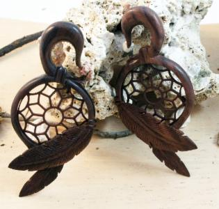 Sono Wood Dream Catcher with Feathers