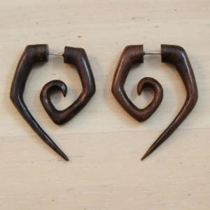 Illusion Sono Wood Oval Nut Spiral Hangers