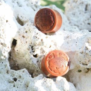 Sono Wood Mayan Face Plugs