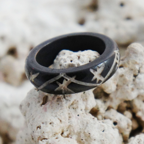 Stars & Stripes Horn Tribal Ring