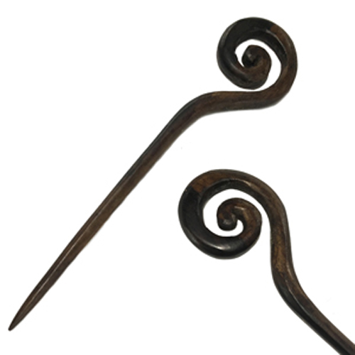 Spiral Wizard Staff Single Prong Hair Stick