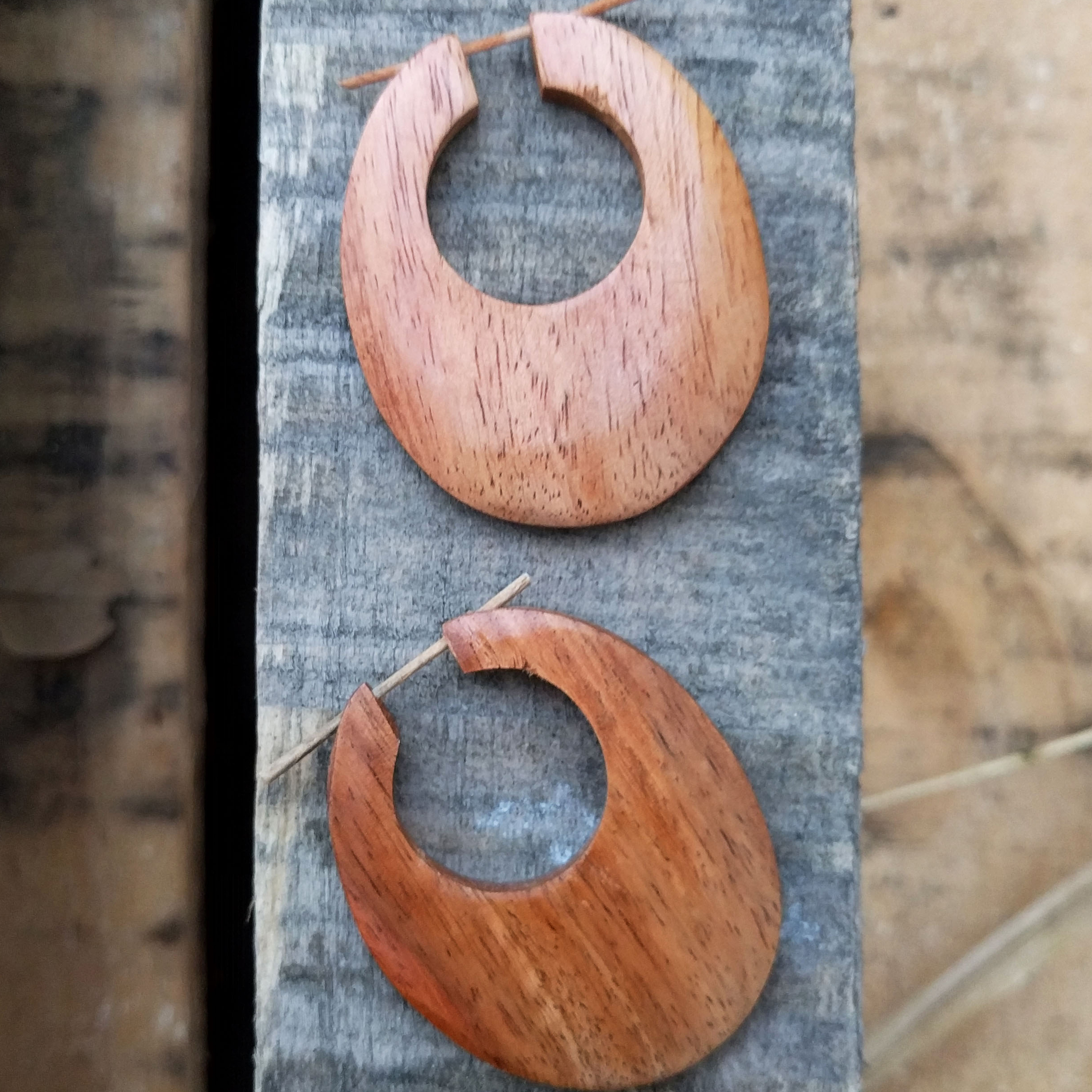 Mango Wood Stick Earrings