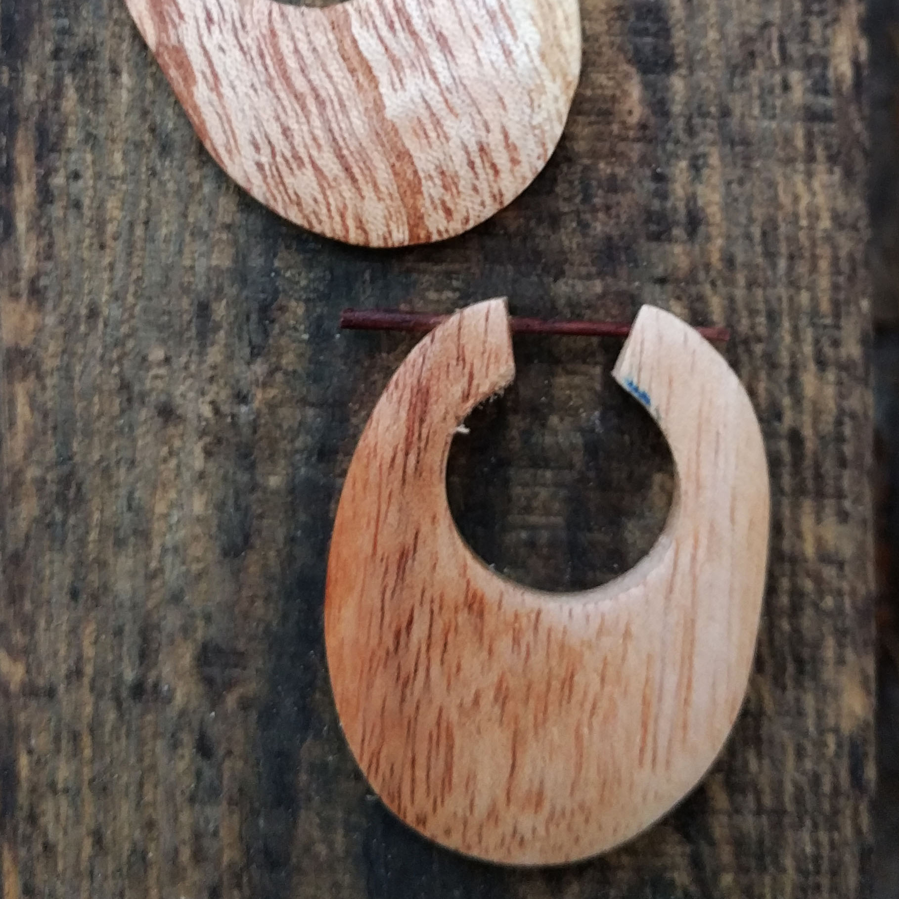 Light Mango Wood Stick Earrings