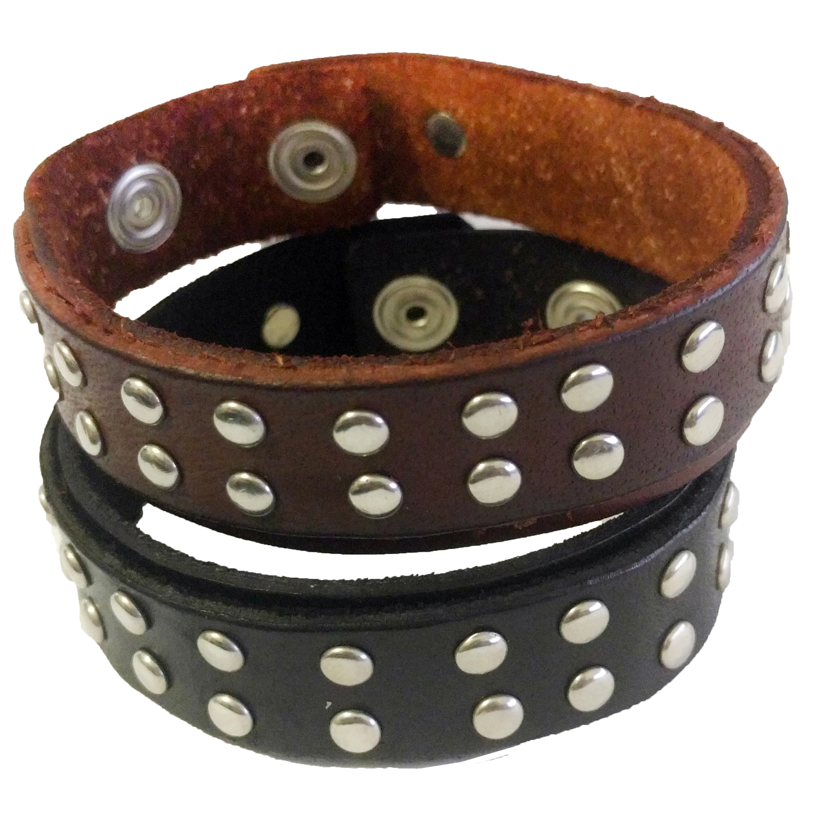 Double Studded Strap Snap Bracelet
