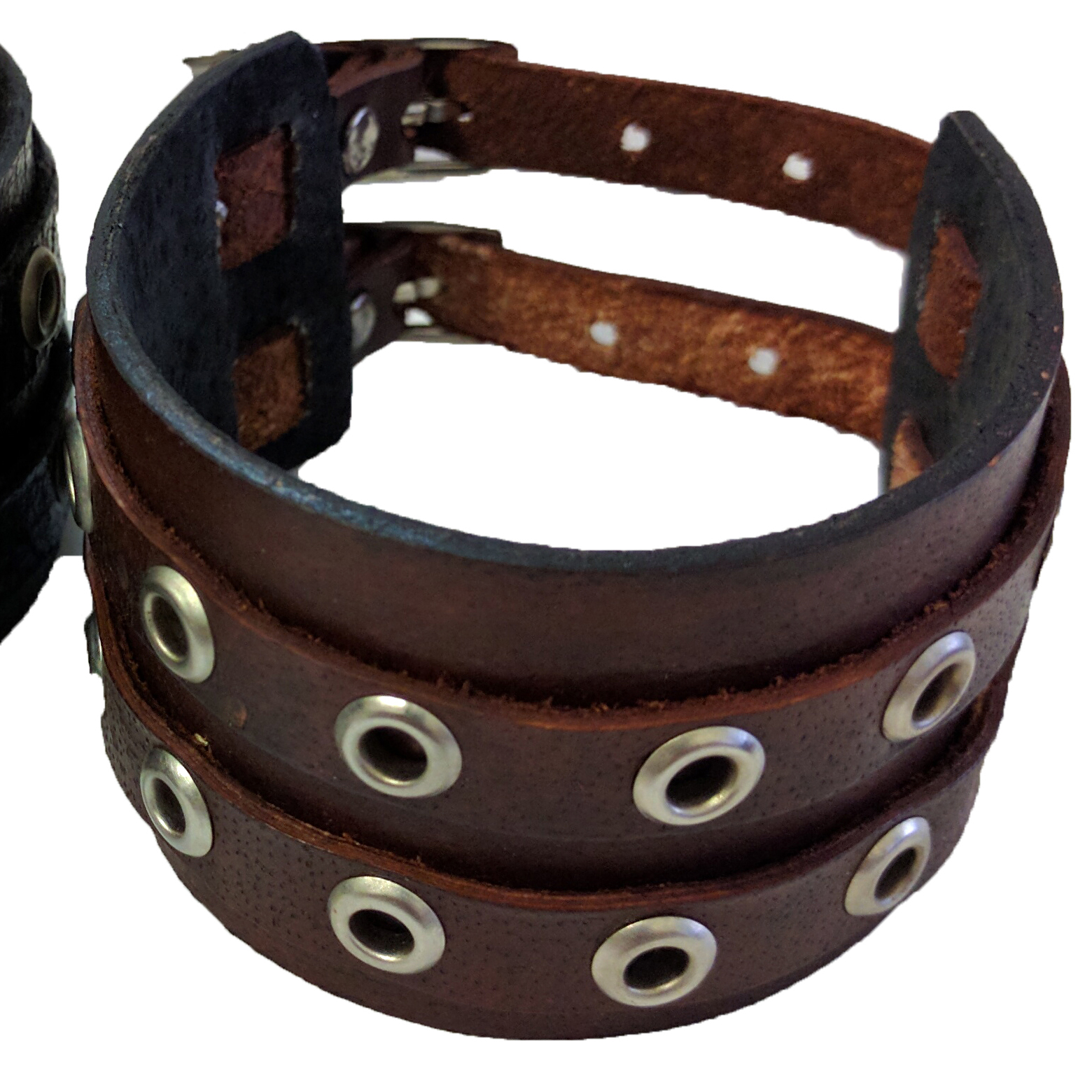Double Rivet Strap Buckle Bracelet Cuff