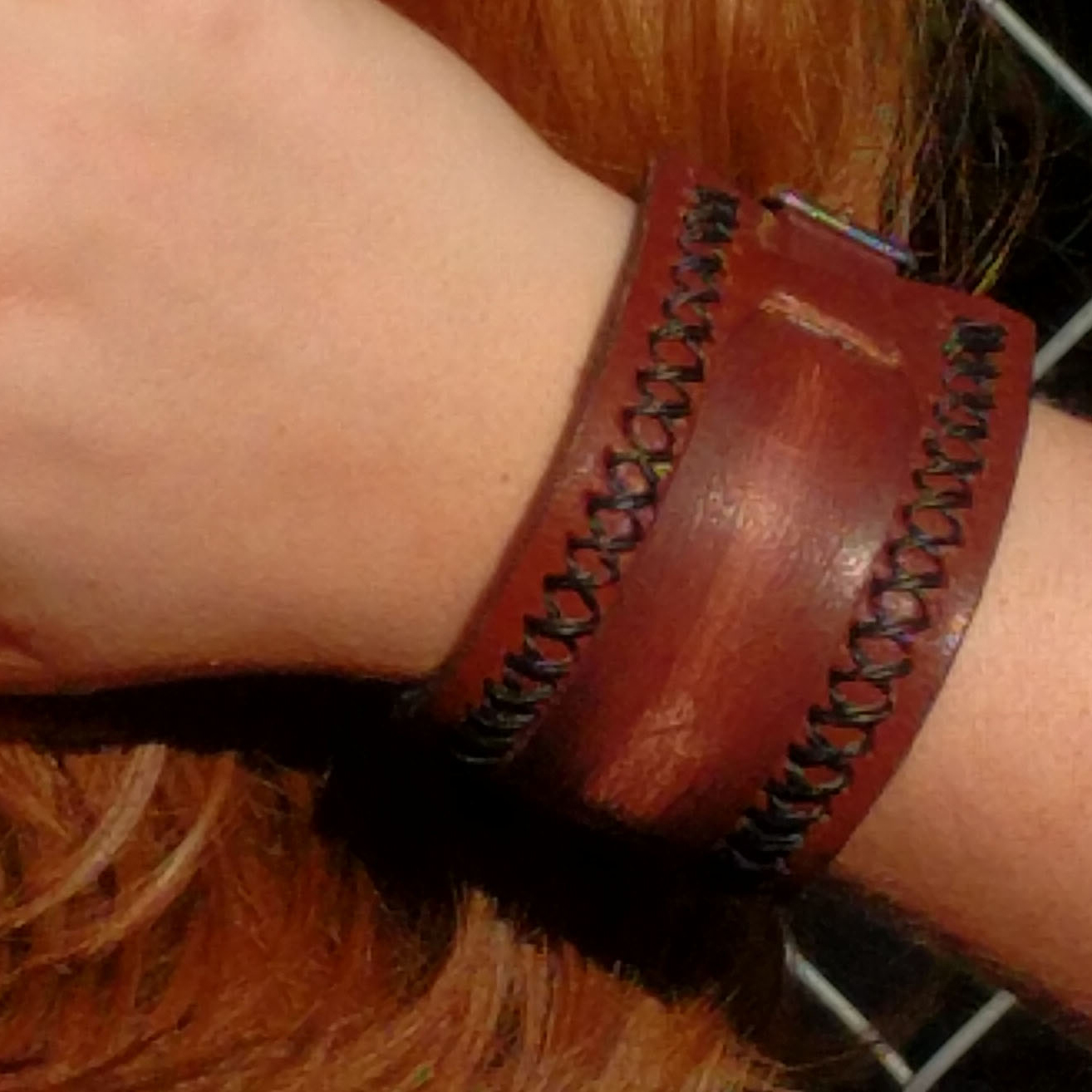 Stiched Sides with Rustic Worn Mid Strap Cuff