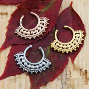 Afghan Style Septum Clip with Crescent Design