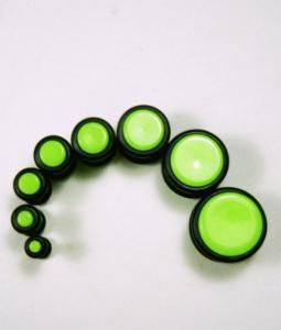 Paired Set Acrylic Neon Green Plug