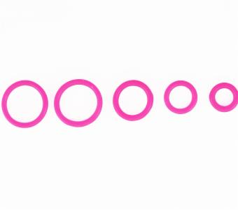 10 Set Solid Neon Pink O-Ring