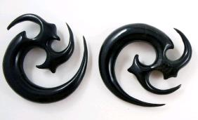 Horn Tribal Spiral Taper