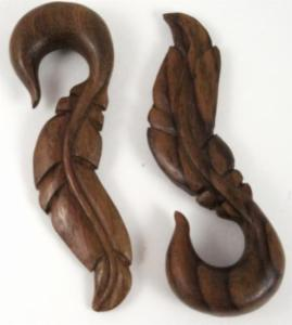 Sawo Wood Feather Hanger