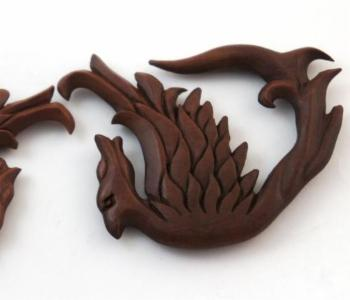 Flying Phoenix Sono Wood Hanger