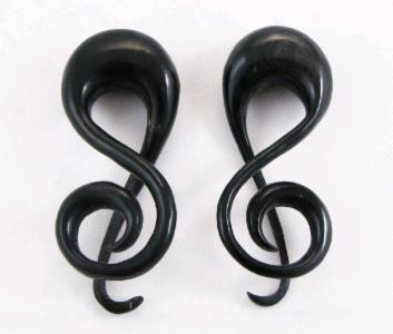 Black Horn Treble Clef Music Symbol