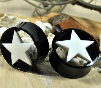 Black Horn Plug with White Star