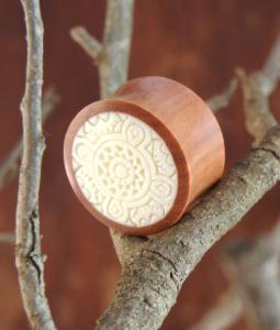 Celtic/Tribal White Inlay in Wood