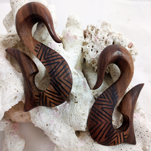 Sono Wood Tribal Fish Hook Hangers