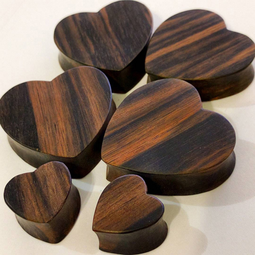 Sono Wood Cutout Heart Shape Plug