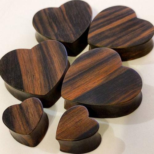 Sono Wood Cutout Heart Shape Plug