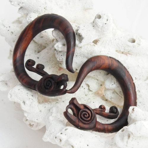 Imugi Serpent Dragon Hoop Sono Wood Hangers