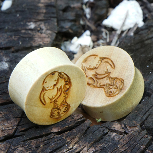 Crocodile Plugs w/ Tribal Manatee Design