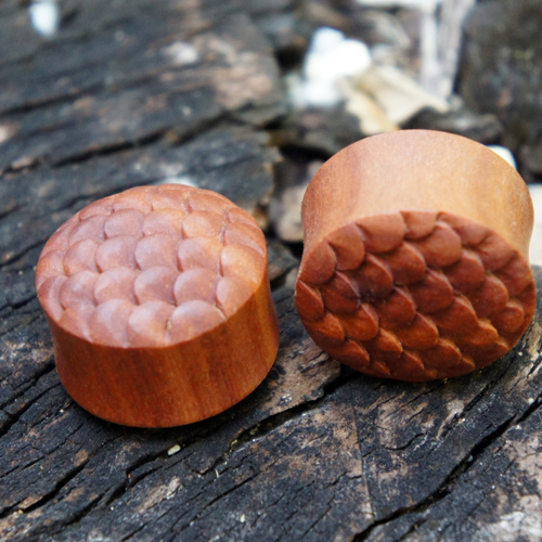 Sawo Wood Scale Double Flared Plugs