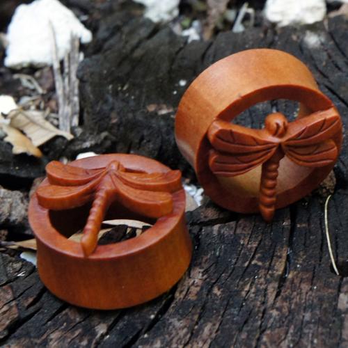 Sawo Wood Dragonfly Flesh Tunnel