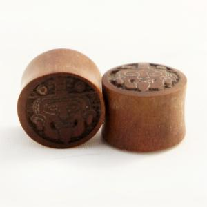 Sawo Wood Mayan Face Plugs