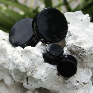 Onyx Gemstone Double Flared Plugs