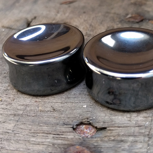 Concave Hematite Saddle Plugs