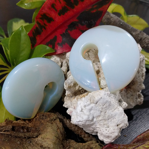 Medium Opalite Asymmetrical Rounded Weights 48x13