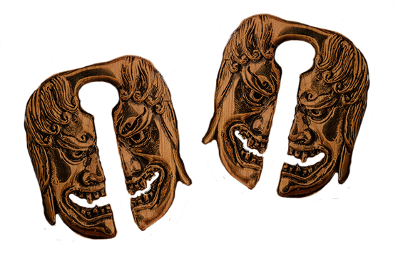 Fudo Mask Sawo Wood Light Ear Weights